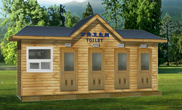 鞍山防腐木移动厕所 环保厕所 环保卫生间