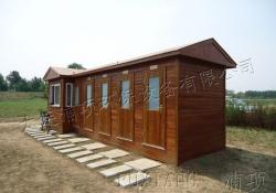 免水防腐木移动厕所