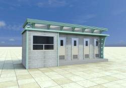 四厕位免水冲移动公厕